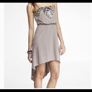 Express strapless high-low dress. Sz small